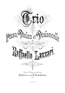 Фортепианное трио фа мажор: Партитура by Рафаэлло Лаццари