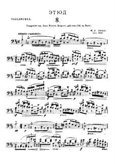 Двадцать один этюд для виолончели: Этюд No.8 ре мажор by Жан-Луи Дюпор