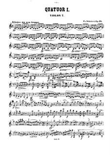 Четыре струнных квартета: Партия второй скрипки by Франц Шуберт