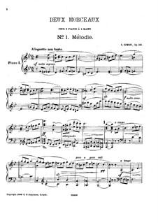 Две пьесы для двух фортепиано, Op.60: Две пьесы для двух фортепиано by Антон Симон