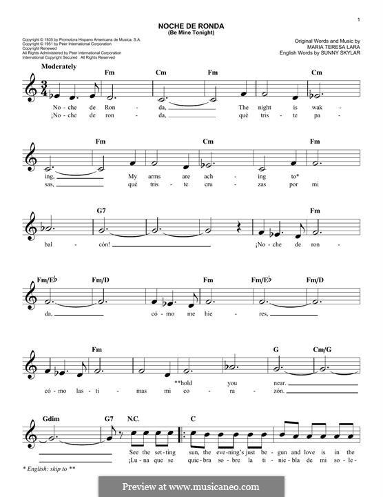 Noche de Ronda (Placido Domingo): Мелодия by Maria Teresa Lara