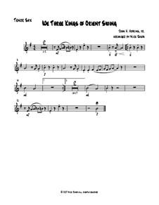 We Three Kings of Orient Swing: For easy sax quartet – tenor sax part by John H. Hopkins Jr.
