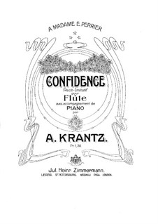 Confidence for Flute and Piano: Партитура by Луи Адольф Кранц