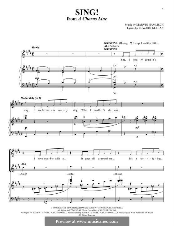 Sing!: Для голоса и фортепиано by Marvin Hamlisch