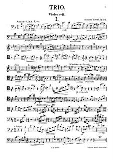 Фортепианное трио ре мажор, Op.32: Партия виолончели by Штефан Крель