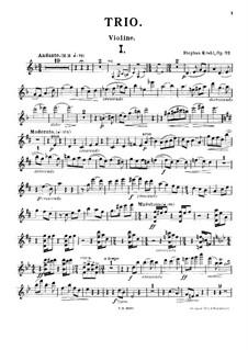 Фортепианное трио ре мажор, Op.32: Партия скрипки by Штефан Крель