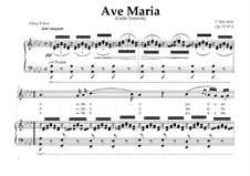 Аве Мария (вокально-фортепианная партитура), D.839 Op.52 No.6: For Mezzo-Soprano or Baritone (In Latin). Landscape in A-Flat Major by Франц Шуберт