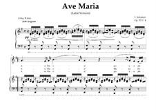 Аве Мария (вокально-фортепианная партитура), D.839 Op.52 No.6: For Mezzo or Baritone (In Latin). Landscape in G Major by Франц Шуберт