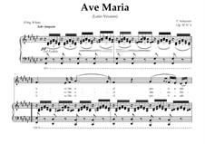 Аве Мария (вокально-фортепианная партитура), D.839 Op.52 No.6: For Contralto (In Latin). Landscape in F-Sharp Major by Франц Шуберт