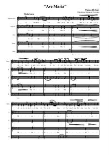 Аве Мария (вокально-фортепианная партитура), D.839 Op.52 No.6: For voice and mixed choir by Франц Шуберт