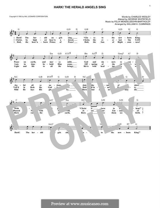 Клавир а вокальной партитурой: Мелодия by Феликс Мендельсон-Бартольди