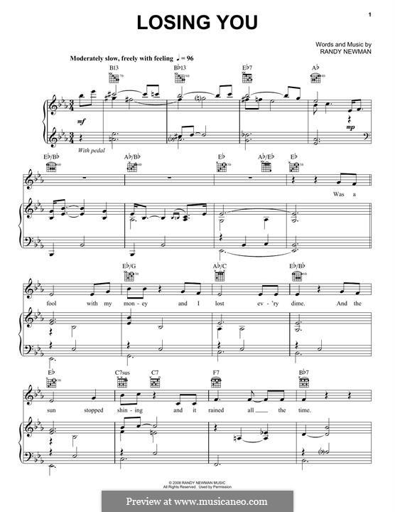 Losing You: Для голоса и фортепиано (или гитары) by Randy Newman