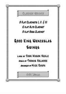 King Wenceslas Swings: For easy clarinet quintet – score and parts by Thomas Helmore