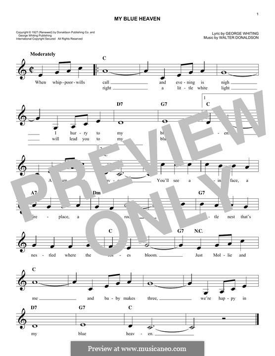 My Blue Heaven: Мелодия by Уолтер Дональдсон