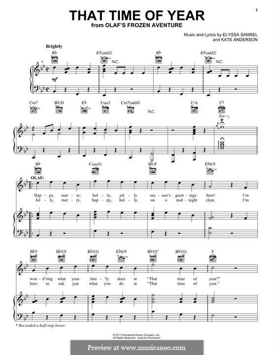 That Time of Year: Для голоса и фортепиано (или гитары) by Kate Anderson, Elyssa Samsel