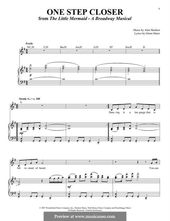 One Step Closer: Для голоса и фортепиано by Alan Menken