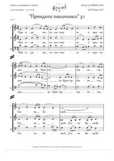 Приидите поклонимся (3.1, однородн.х., пдб 'Dostojno Yest`', 2-3 голоса, Dm) - RU: Приидите поклонимся (3.1, однородн.х., пдб 'Dostojno Yest`', 2-3 голоса, Dm) - RU by folklore