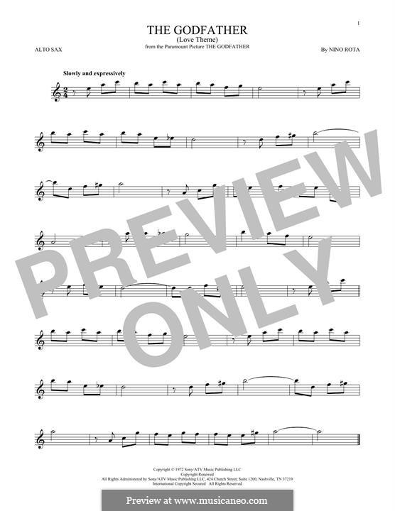 The Godfather (Love Theme): Для альтового саксофона by Нино Рота