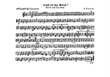 Call of the Wild: Cornets II, III in B parts by Франк Хойт Лоузи