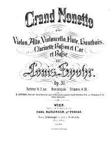 Большой нонет, Op.31: Партия скрипки by Луи Шпор