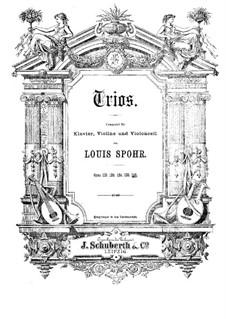 Большое фортепианное трио No.5 соль минор, Op.142: Партитура by Луи Шпор