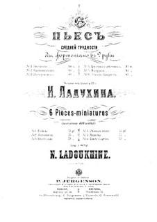 Шесть пьес средней трудности для фортепиано: Шесть пьес средней трудности для фортепиано by Николай Михайлович Ладухин