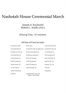 Nashotah House Ceremonial March: Партитура by Joseph Kucharski
