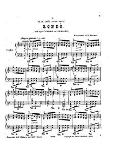 Кадм и Гермиона, LWV 49: Рондо. Переложение для фортепиано by Жан-Батист Люлли