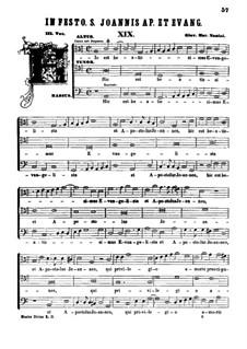 Hic est beatissimus Evangelista: Hic est beatissimus Evangelista by Джованни Мария Нанино