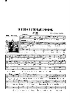 Lapidabant Stephanum invocantem: Вокальная партитура by Джованни Мария Нанино