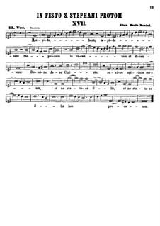 Lapidabant Stephanum invocantem: Партия сопрано by Джованни Мария Нанино
