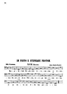 Lapidabant Stephanum invocantem: Партия баса by Джованни Мария Нанино