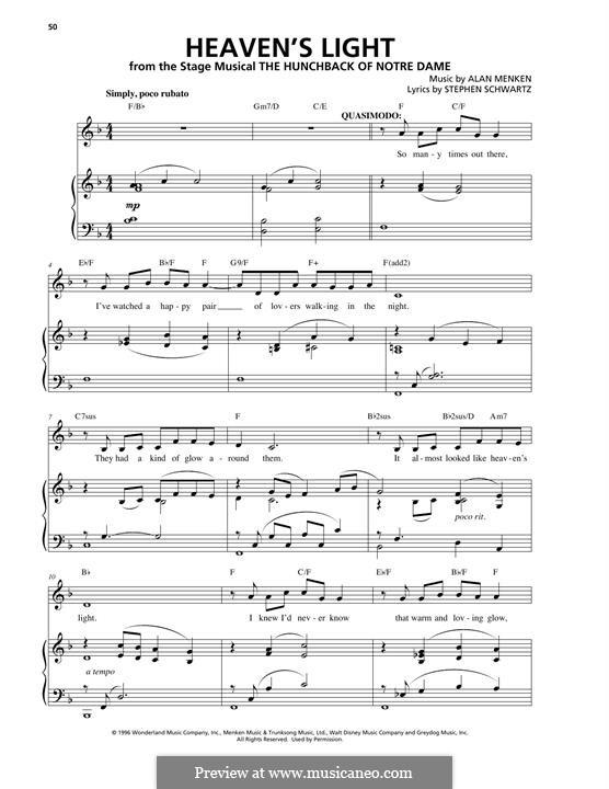 Heaven's Light: Для голоса и фортепиано by Alan Menken