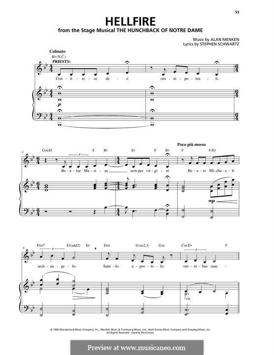 Hellfire: Для голоса и фортепиано by Alan Menken