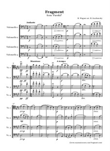 Фрагменты: Für Celloquartett by Рихард Вагнер