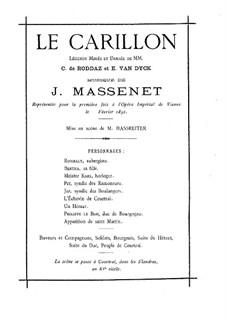 Le carillon: Аранжировка для фортепиано by Жюль Массне