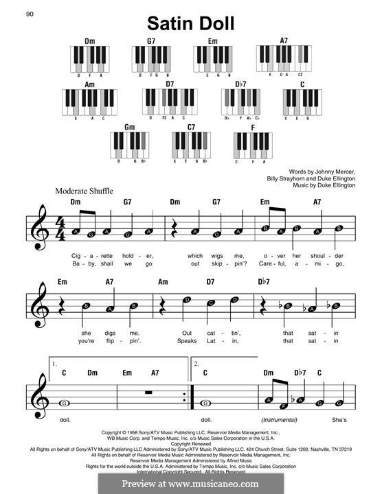 Satin Doll: Для фортепиано by Billy Strayhorn, Duke Ellington