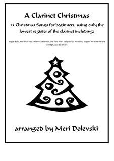 15 Christmas pieces: Для кларнета и фортепиано by Георг Фридрих Гендель, folklore, Джеймс Р. Мюррей, James Lord Pierpont