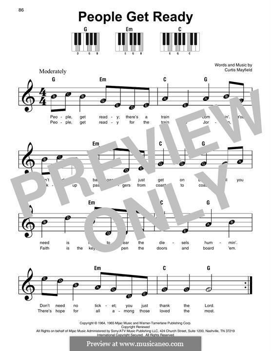 People Get Ready (Eva Cassidy): Для фортепиано (легкий уровень) by Curtis Mayfield