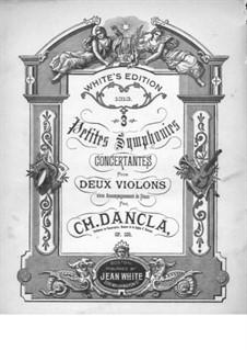 Три маленьких симфонии, Op.109: Три маленьких симфонии by Шарль Данкла
