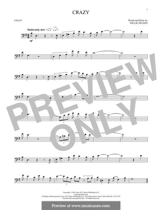 Crazy (Patsy Cline): Для виолончели by Willie Nelson