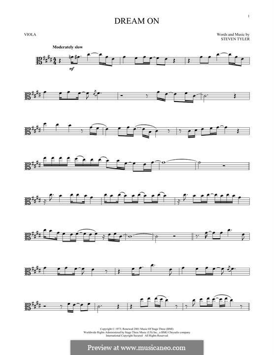 Dream On (Aerosmith): For viola by Steven Tyler