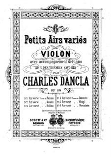 Шесть арий с вариациями, Op.89: No.5 Ария с вариациями на тему Вейгля by Шарль Данкла