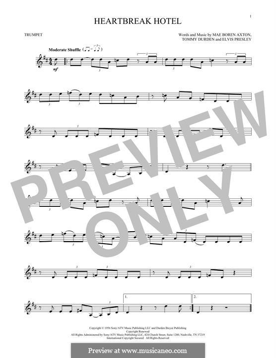 Heartbreak Hotel (Elvis Presley): Для трубы by Mae Boren Axton, Tommy Durden