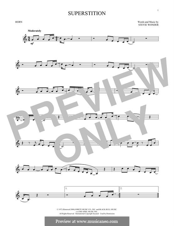 Superstition: For horn by Stevie Wonder