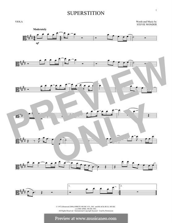 Superstition: For viola by Stevie Wonder