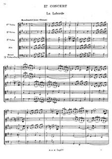 Клавесинный концерт No.2 соль мажор, RCT 8: Переложение для струнного секстета by Жан-Филипп Рамо