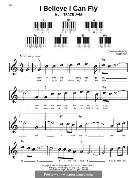 I Believe I Can Fly: Для фортепиано (легкий уровень) by Robert Kelly