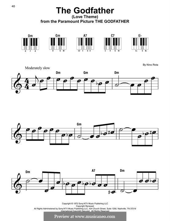 The Godfather (Love Theme): Для фортепиано (легкий уровень) by Нино Рота
