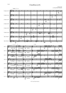 Crucifixus: For clarinet octet (or clarinet choir) in F (6 clarinets and 2 bass clarinets) by Антонио Лотти